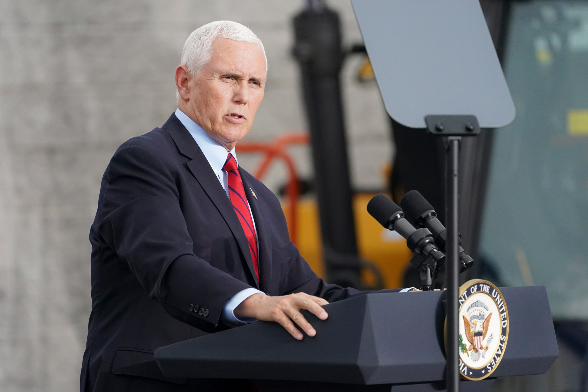 Vice President Mike Pence speaks at a campaign event on September 1 in Exeter, Pennsylvania.