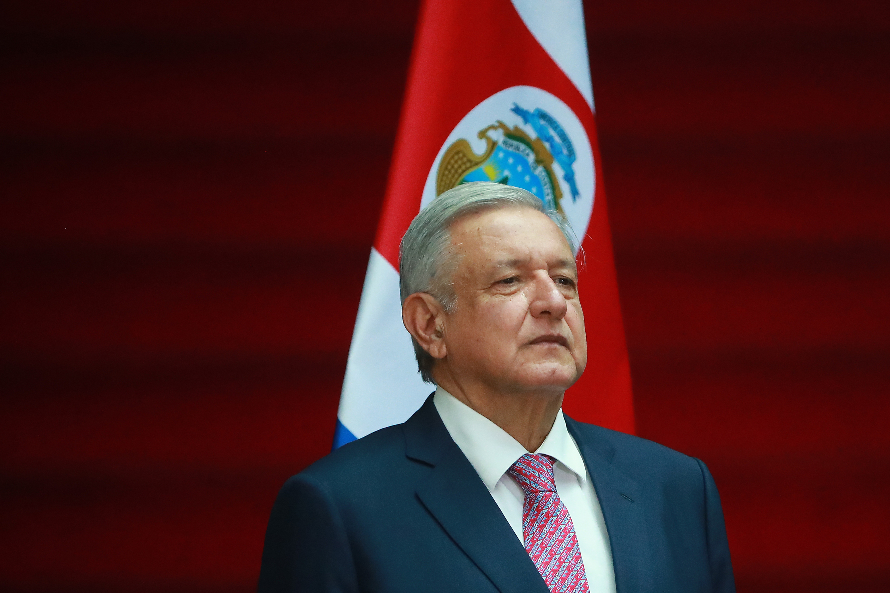Andres Manuel Lopez Obrador, President of Mexico, poses during a state visit to Palacio Nacional on October 21, 2019.
