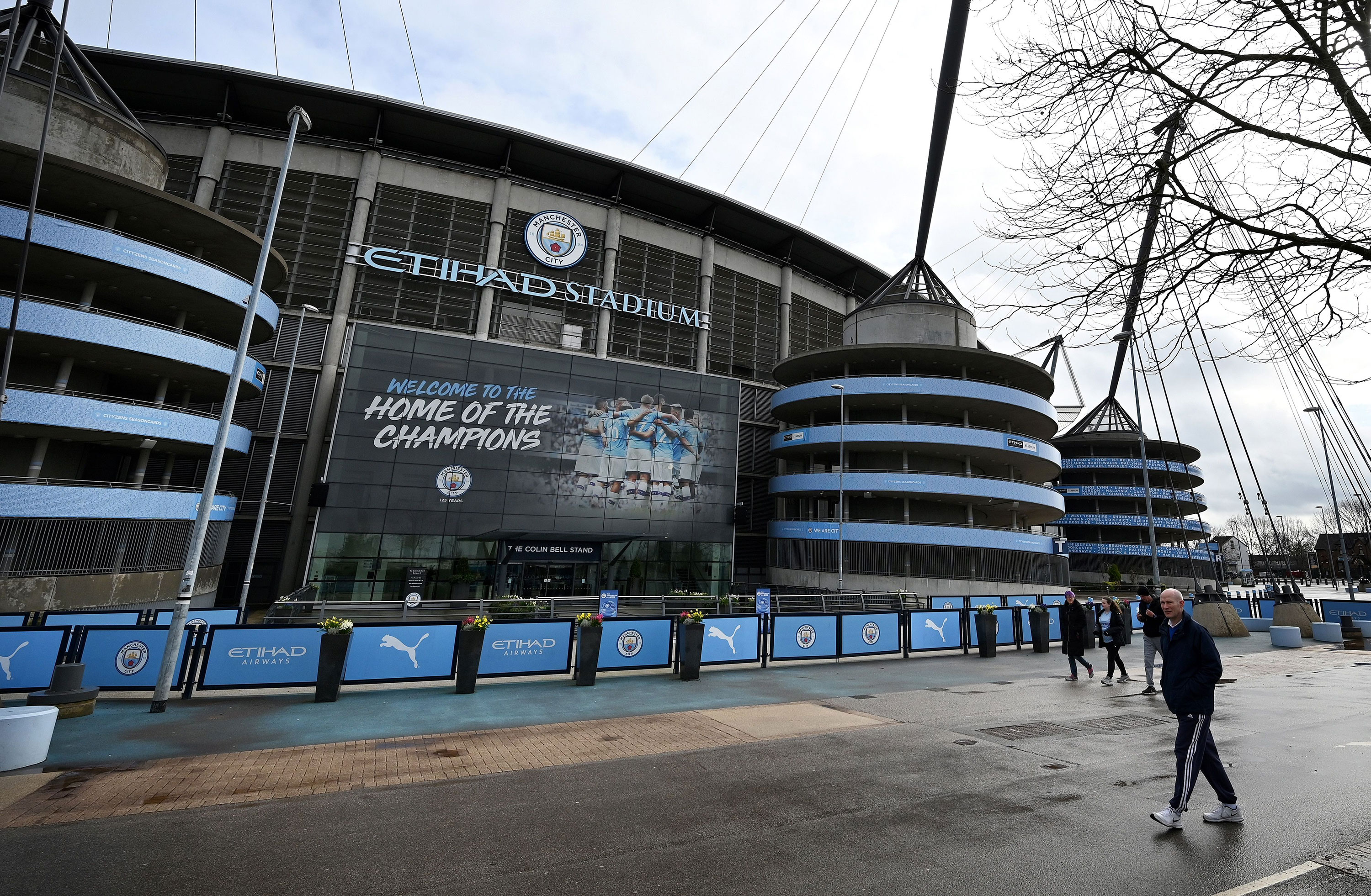 A general view of Manchester City's Etihad Stadium on March 14, in Manchester.