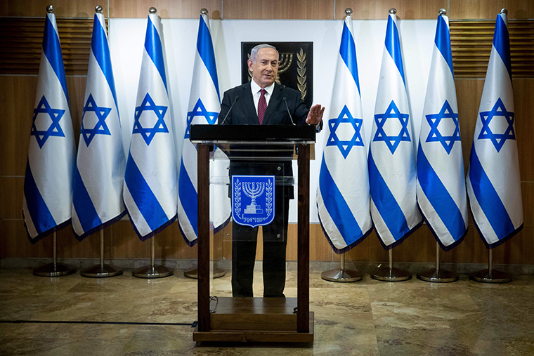 Israeli Prime Minister Benjamin Netanyahu in Jerusalem on December 22, 2020.