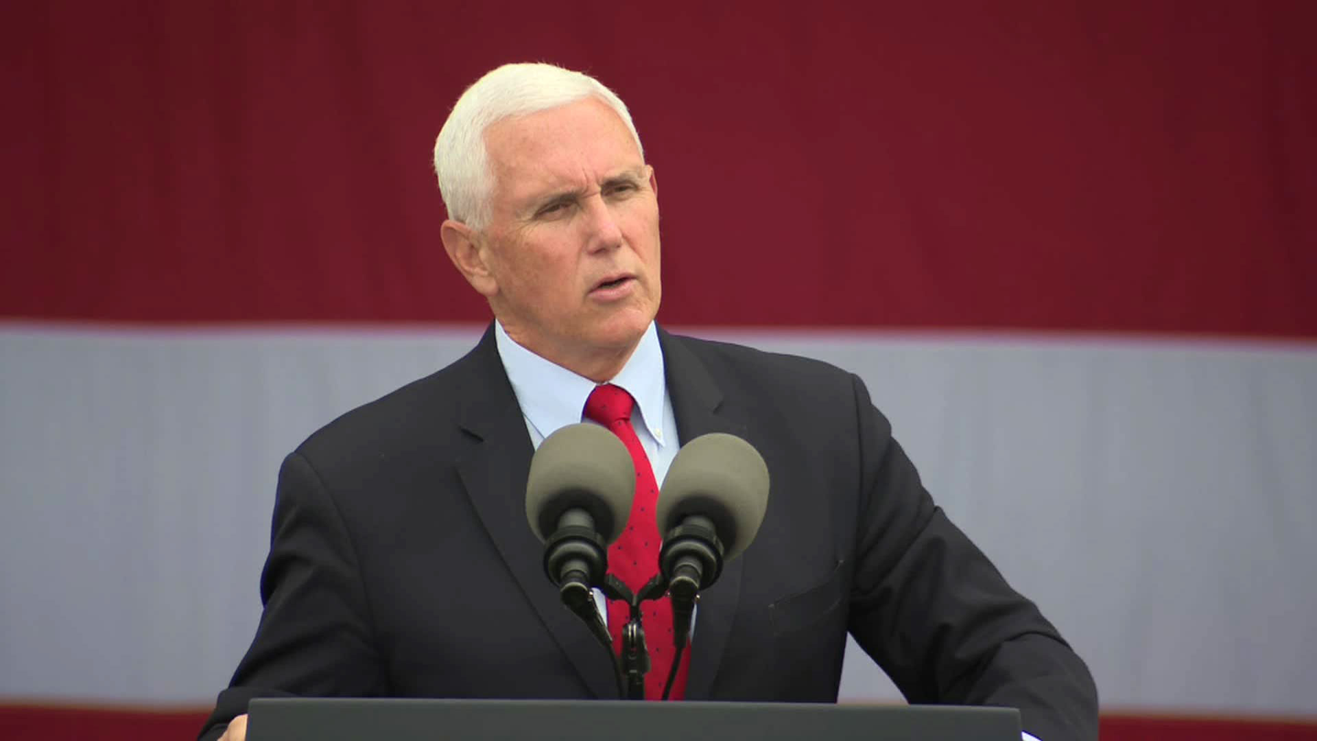 Vice President Mike Pence speaks at a campaign event in Selma, North Carolina, on Friday, October 16.