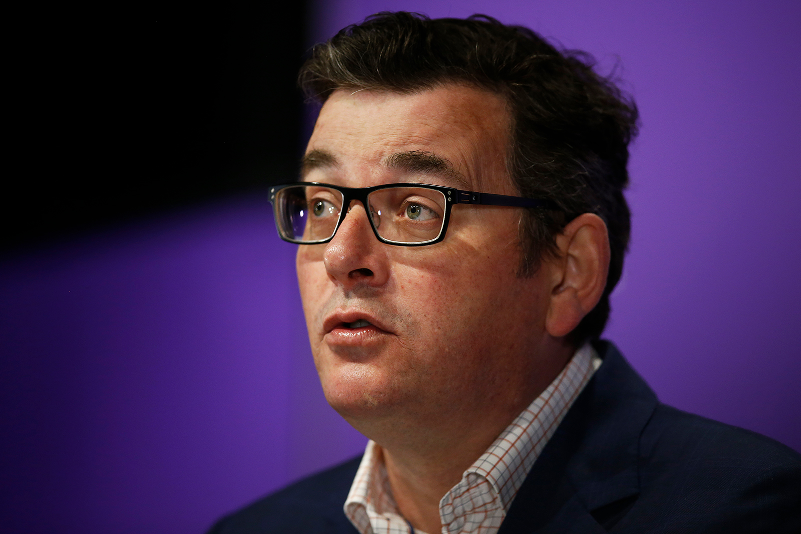 Victorian Premier Daniel Andrews speaks to the media during a news conference in Melbourne, Australia, on September 14.