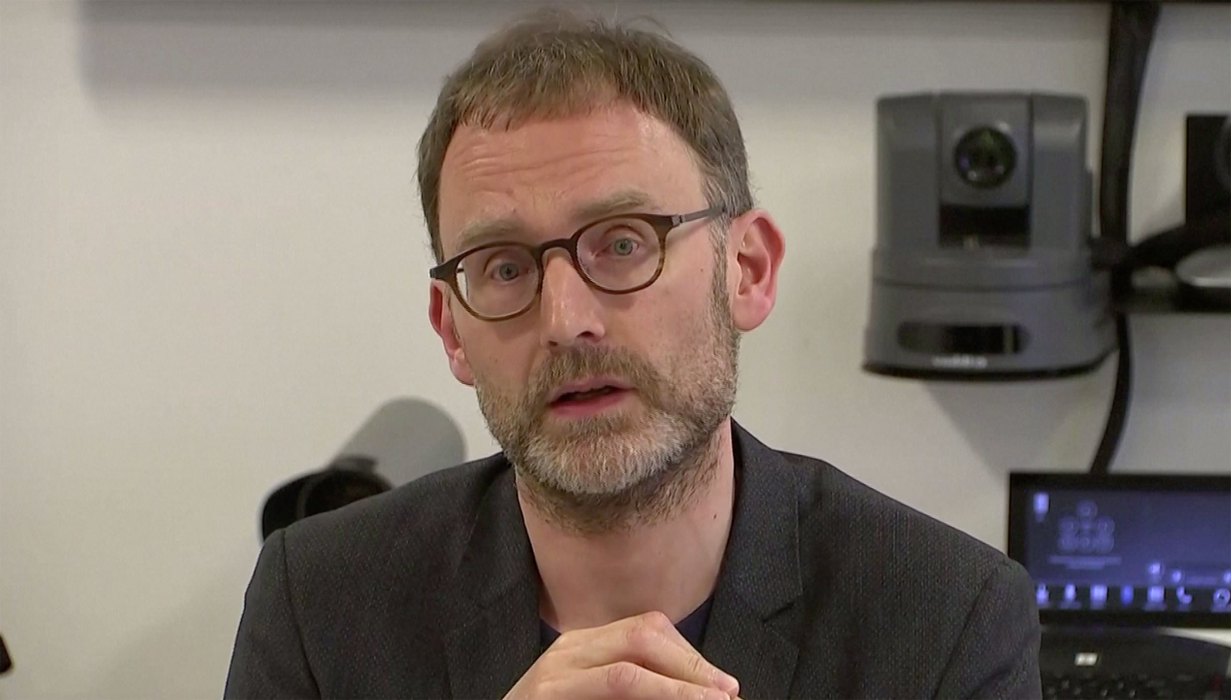 Professor Neil Ferguson speaks at a news conference in London, England, on January 22.