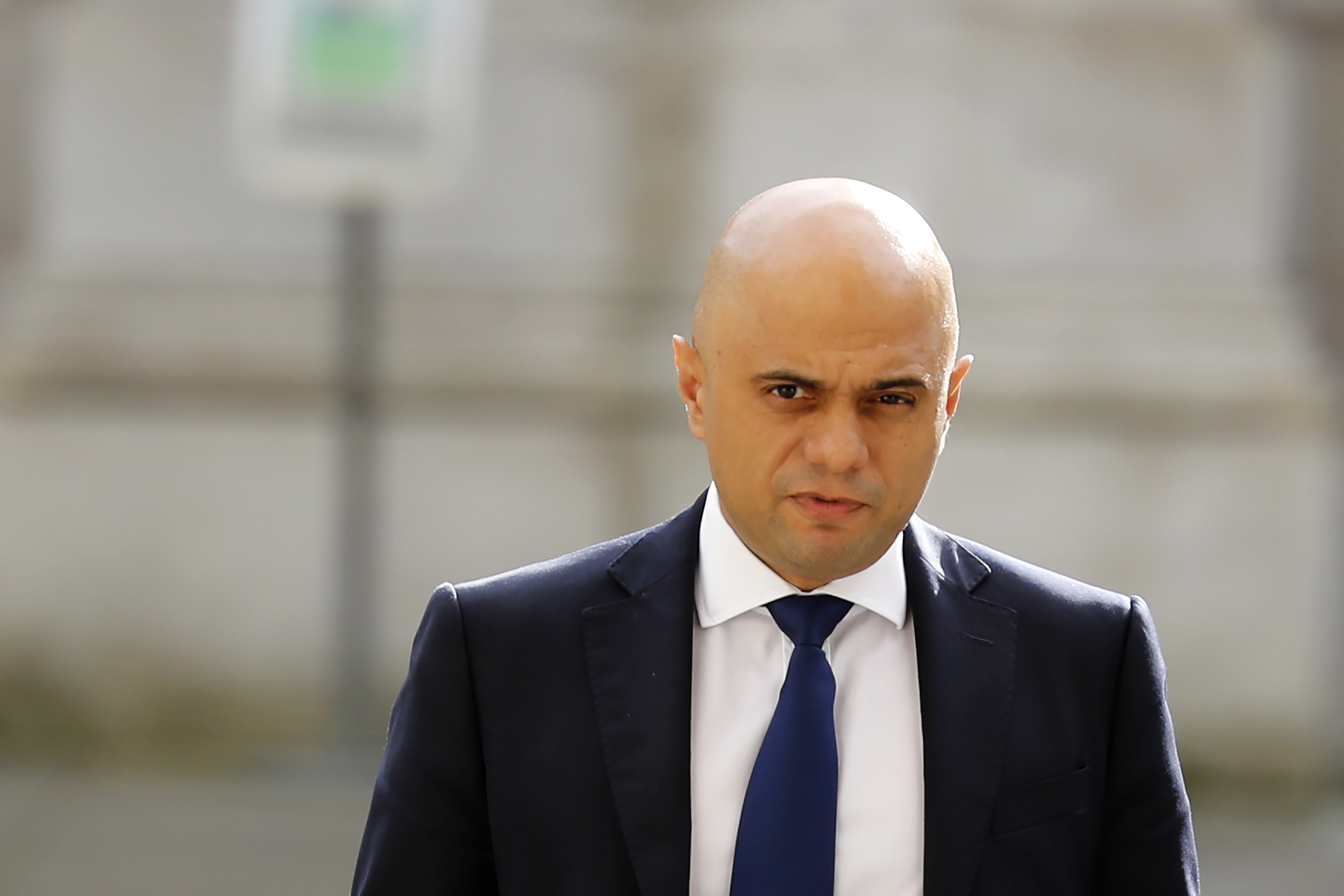 Britain's Chancellor of the Exchequer Sajid Javid.