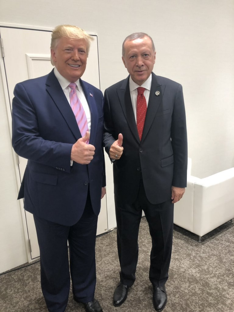 US President Donald Trump and Turkish President Recep Tayyip Erdogan