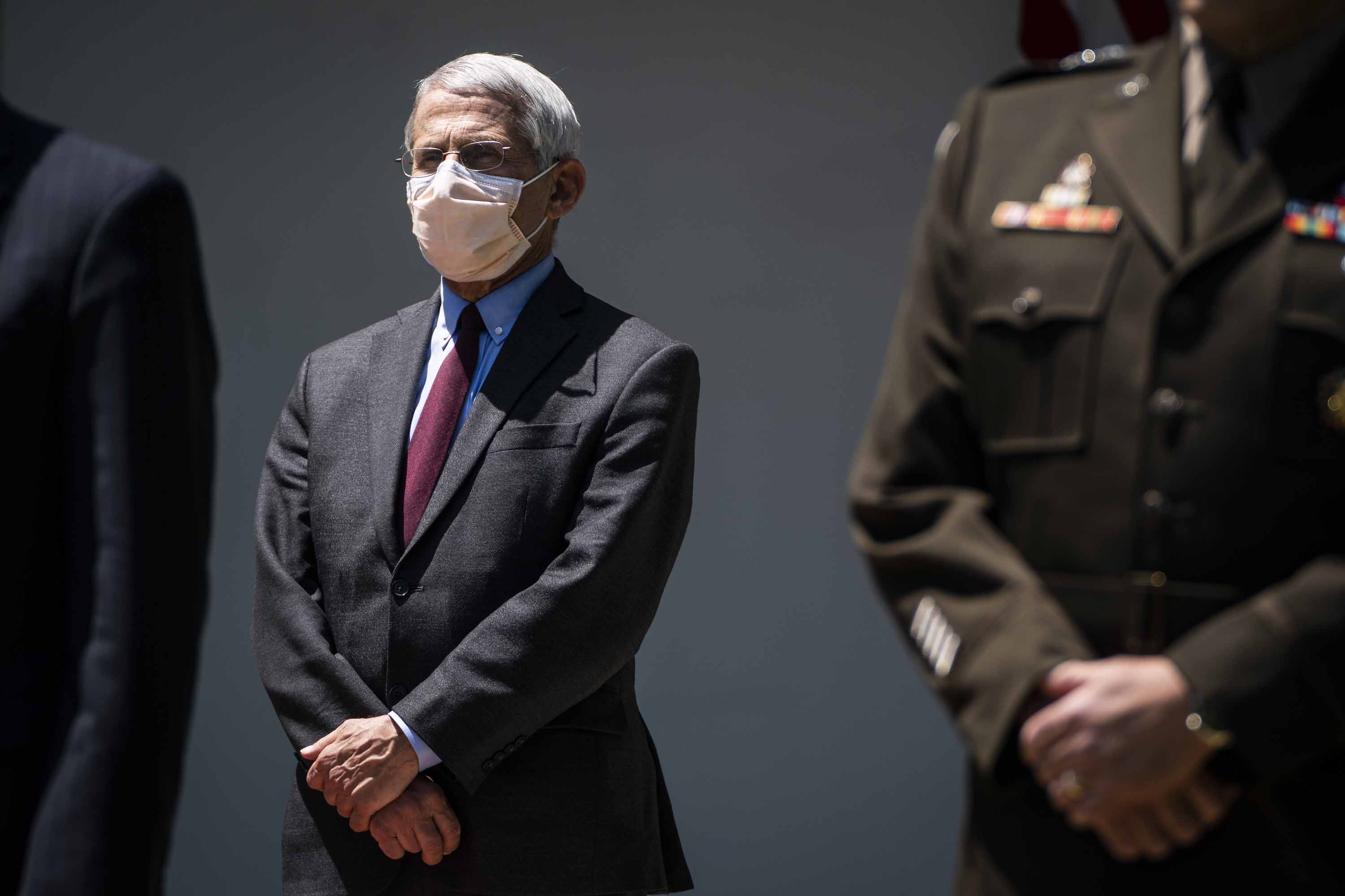 Director of the National Institute of Allergy and Infectious Diseases Dr. Anthony Fauci is pictured during an event in the Rose Garden at the White House on May 15.