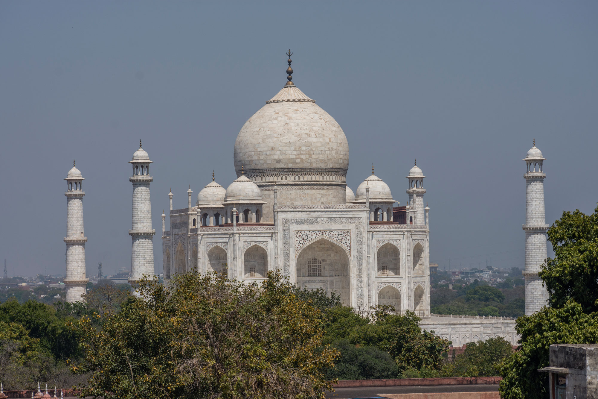 The Taj Mahal is closed to tourists on March 18 in Agra, India.