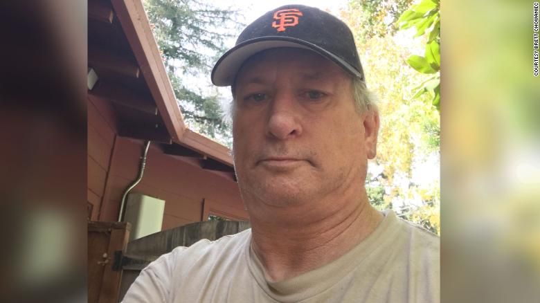 Brett Chowaniec of California, who is self-employed, is now collecting unemployment benefits.