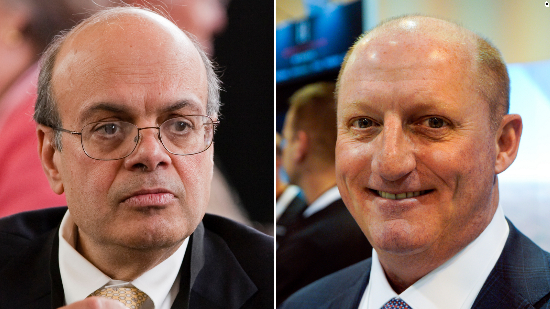Ajit Jain, left, and Greg Abel