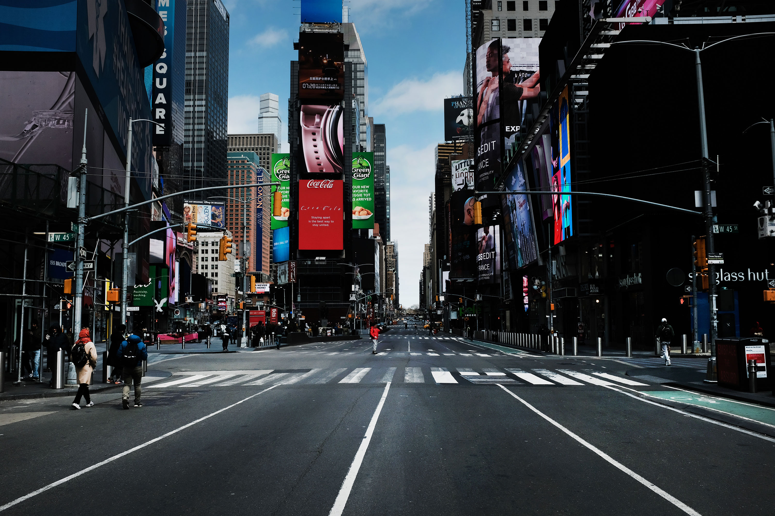 Times Square stands mostly empty on March 22.