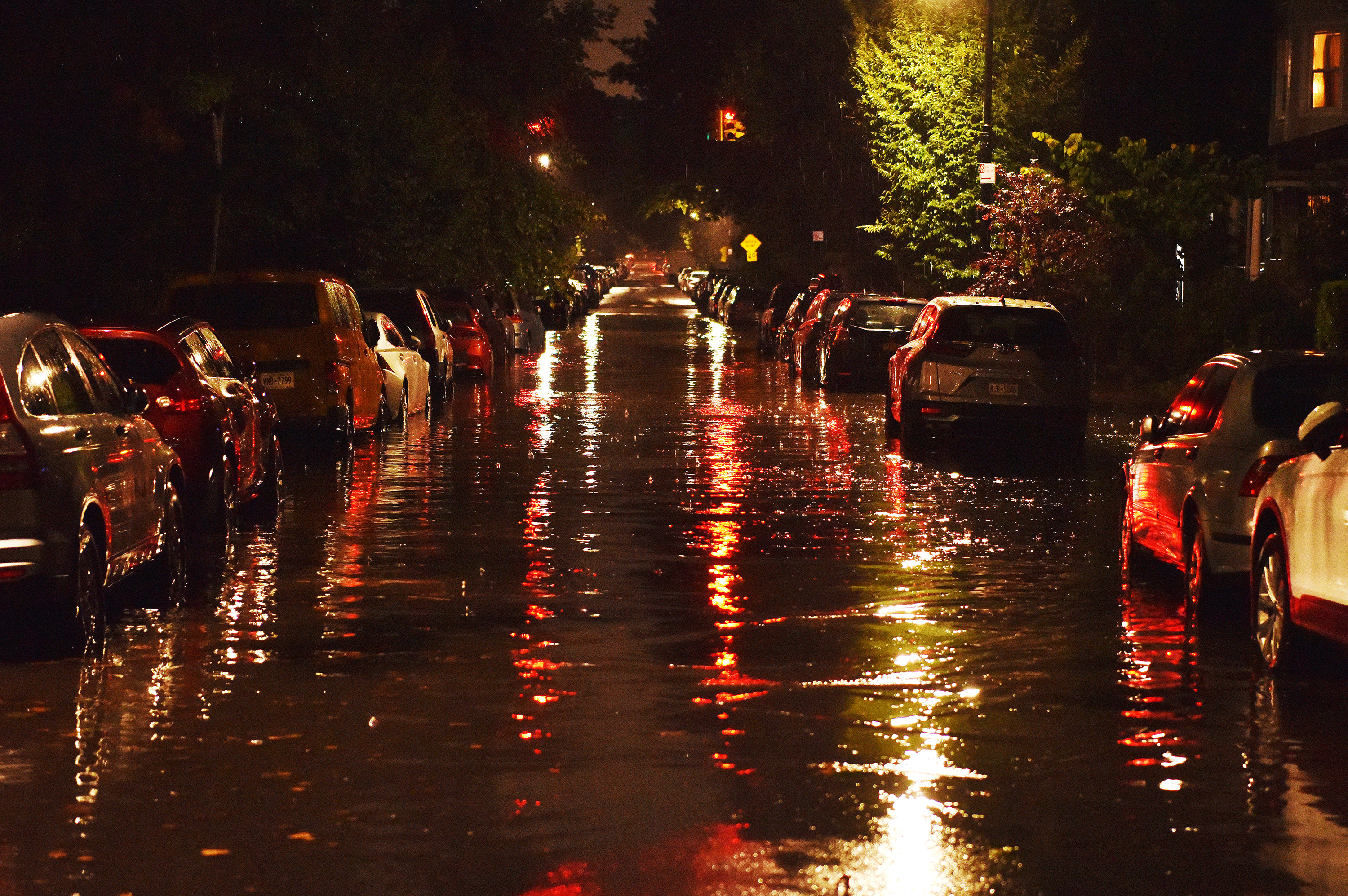 Flooding is seen in Brooklyn, New York, on Wednesday, September 1.