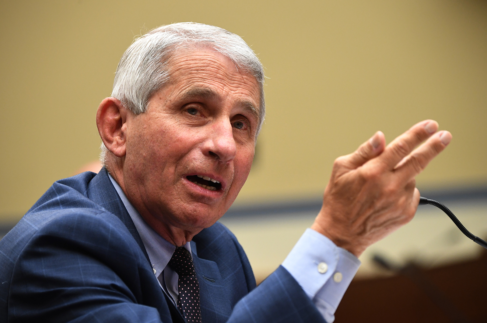 Dr. Anthony Fauci, director of the National Institute for Allergy and Infectious Diseases, testifies before a House Subcommittee on the Coronavirus Crisis hearing in Washington, DC, on July 31.