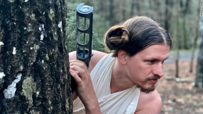A hairstylist had to close her salon. So she turned her boyfriend into Princess Leia and Joe Exotic