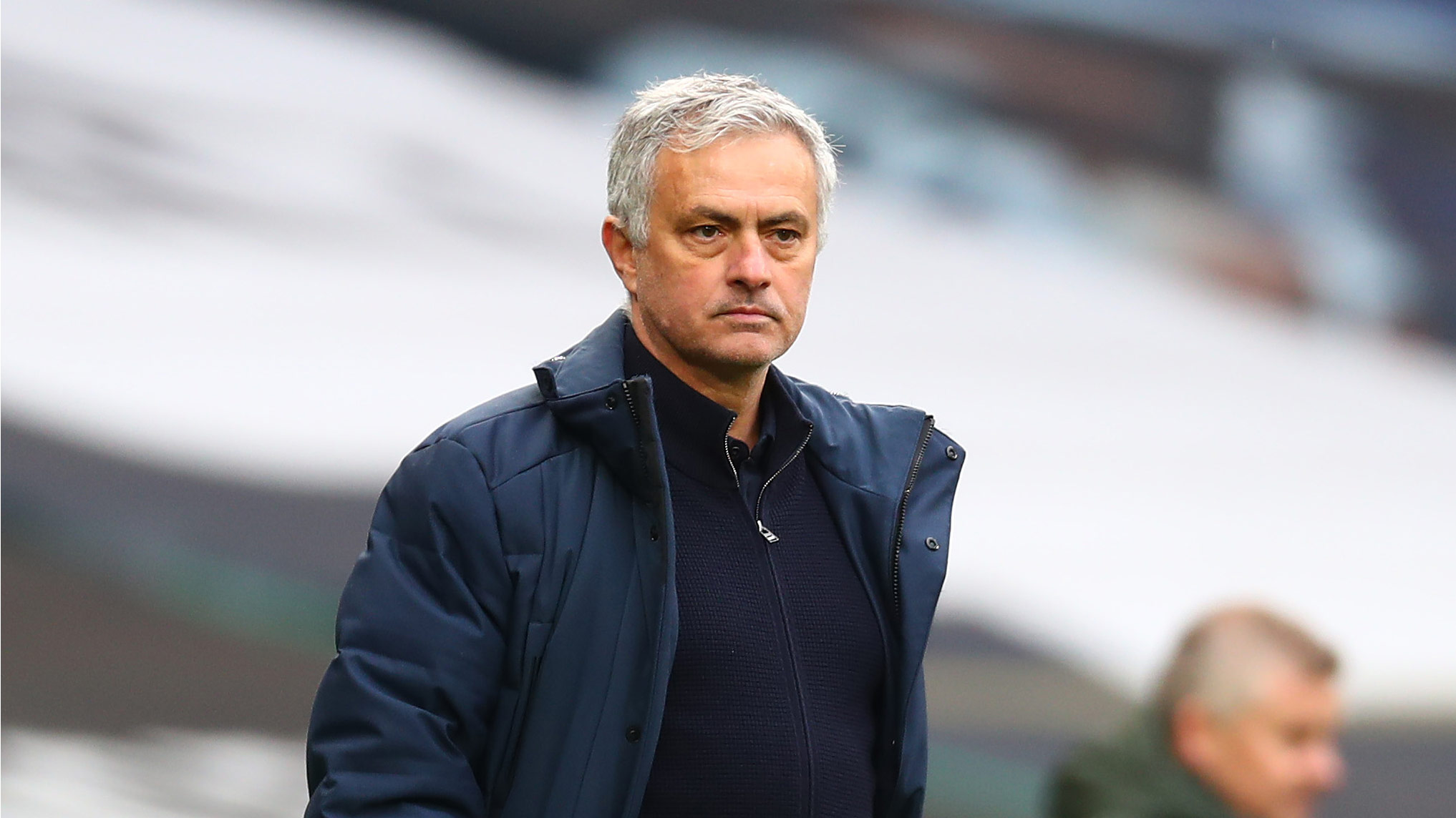 Jose Mourinho, Manager of Tottenham Hotspur, attends a Premier League match against Manchester United on April 11, in London, England.