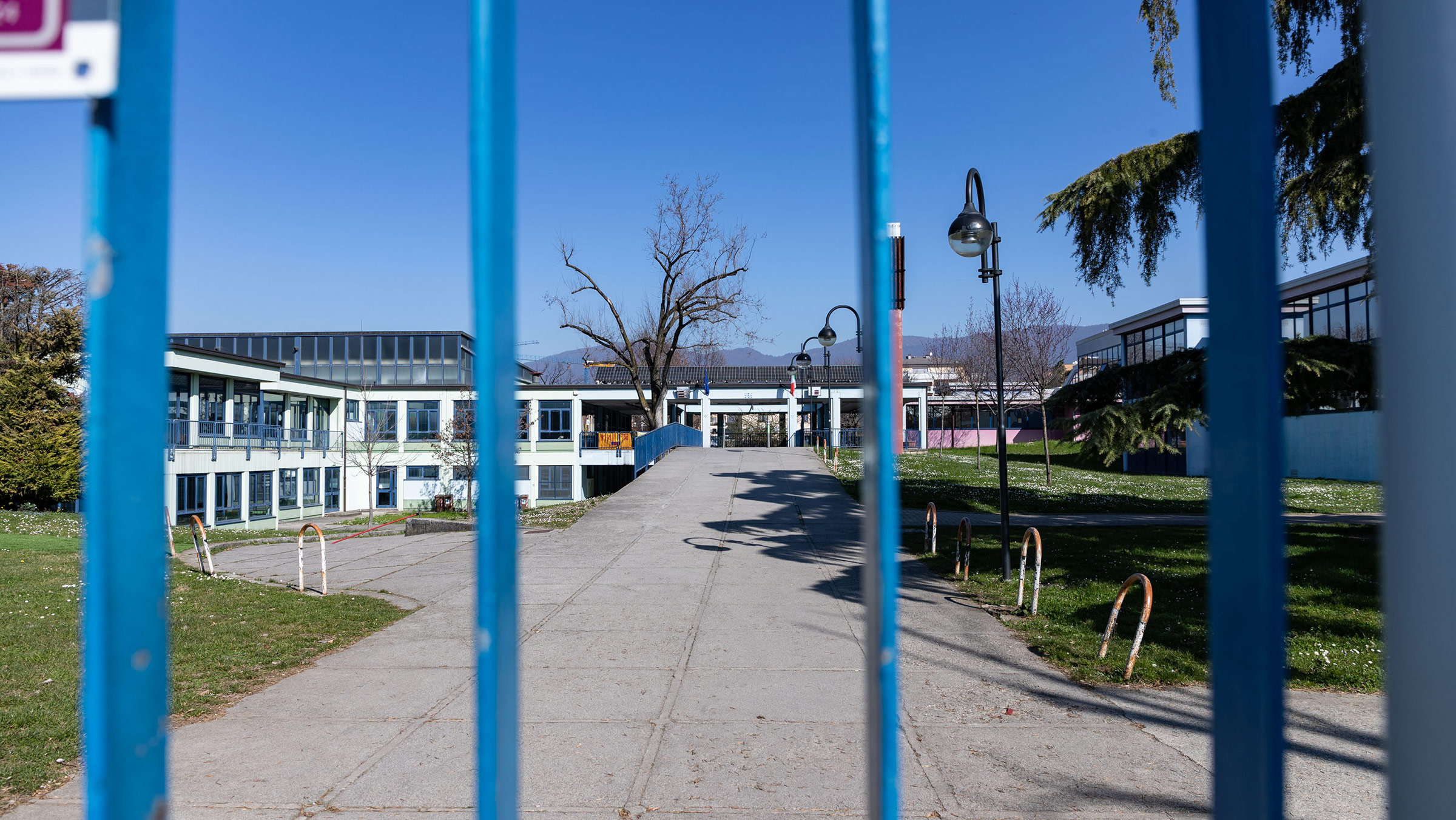 A closed school is seen in Brescia, Italy, on March 1.
