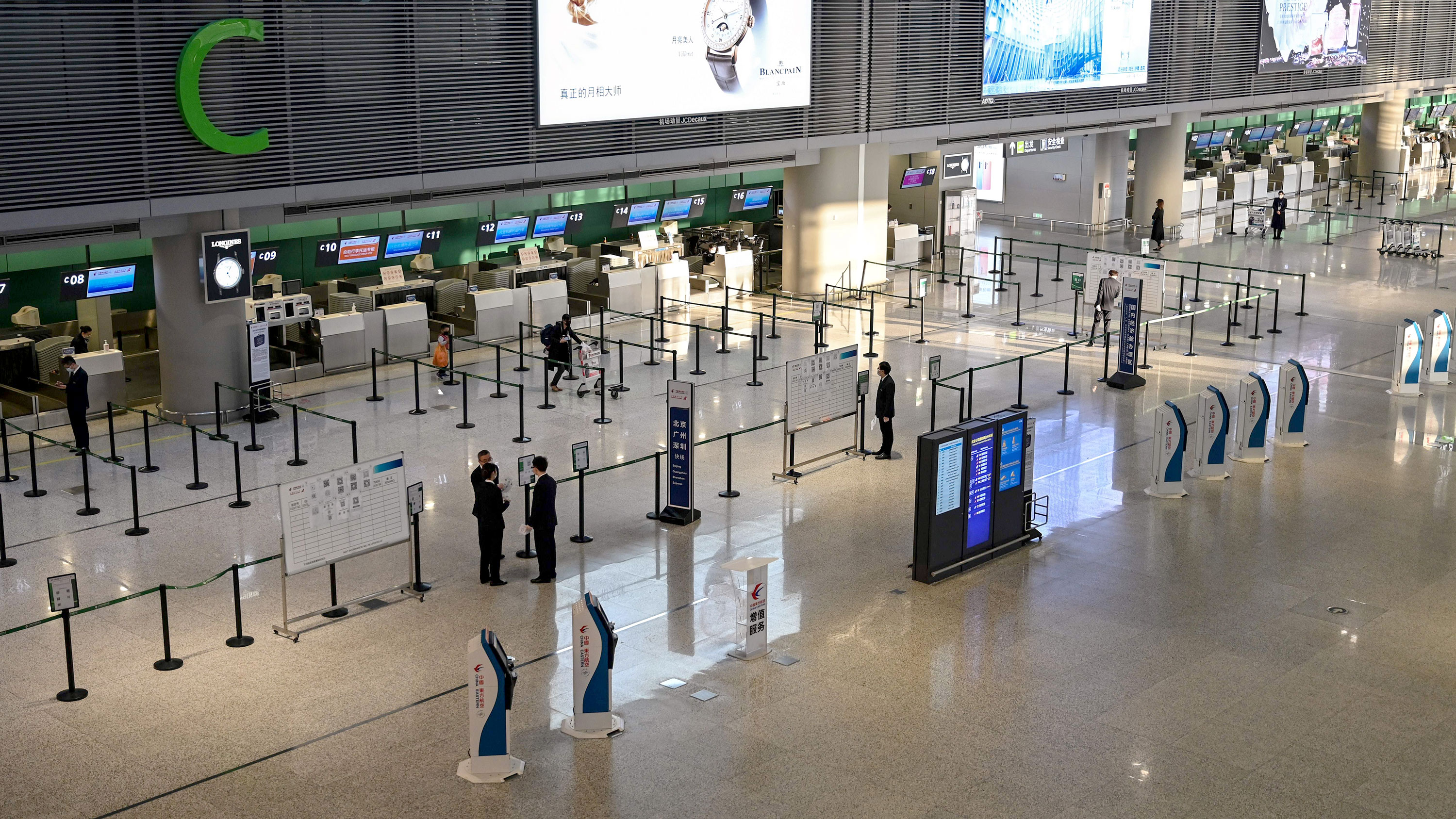 A view of the Hongqiao International Airport in Shanghai on March 5.