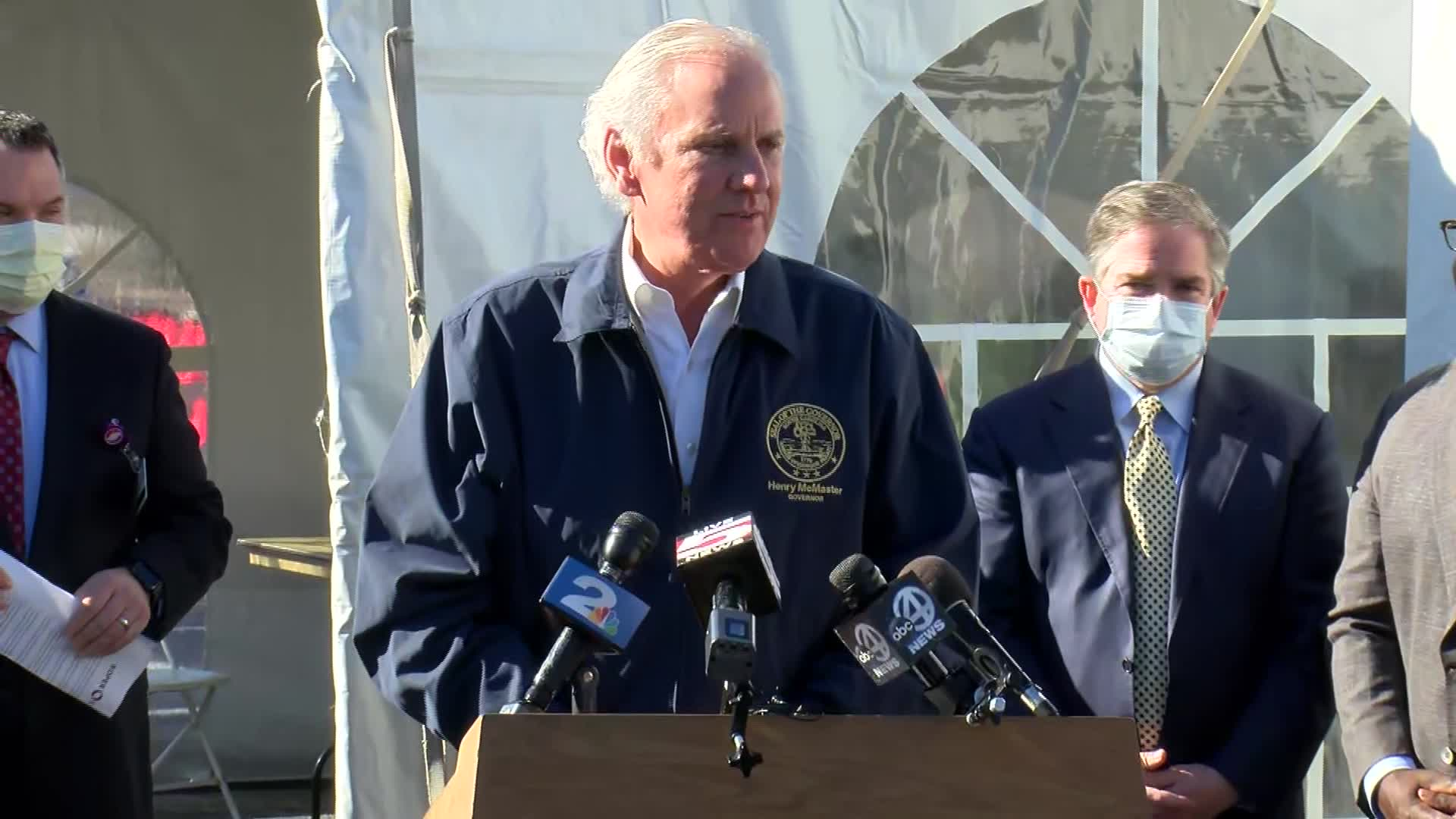 South Carolina Governor Henry McMaster speaks during a press conference in Charleston, South Carolina, on January 19.