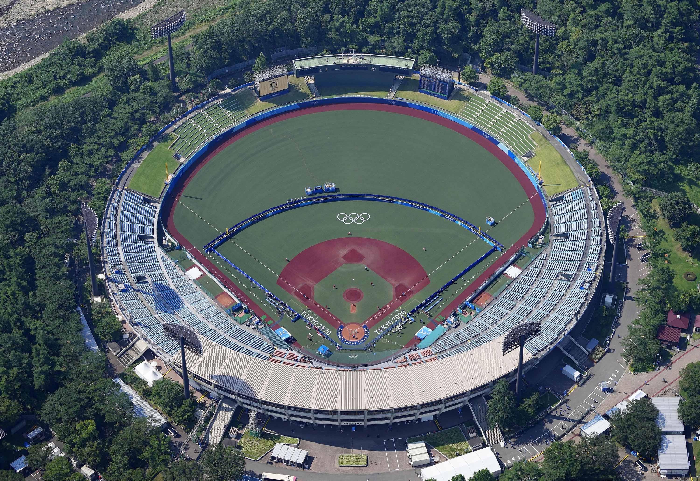 The Fukushima Azuma stadium is pictured on July 21.