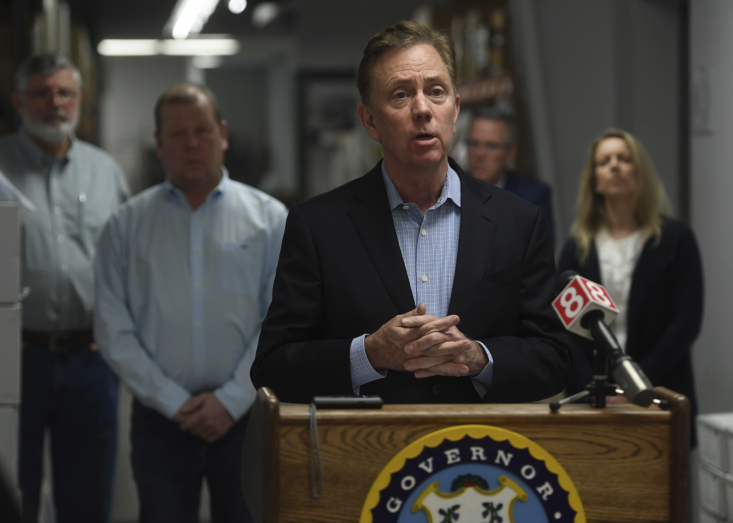 Connecticut Gov. Ned Lamont in Guilford, Connecticut, on Sunday, March 29.
