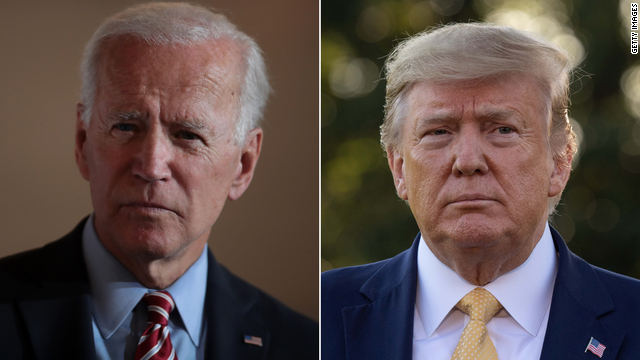 Democratic presidential nominee Joe Biden, left, and President Donald Trump.