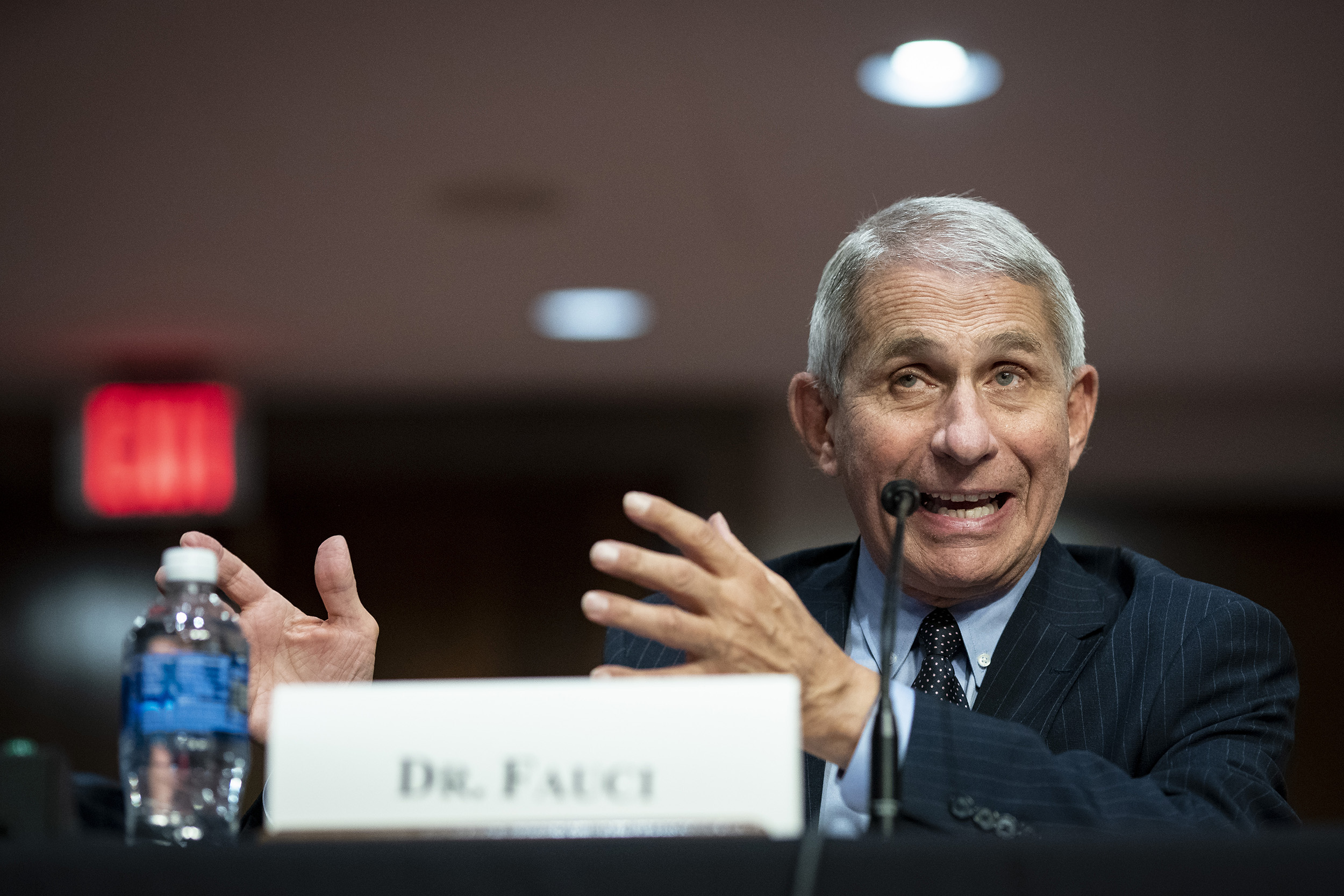 Dr. Anthony Fauci, director of the National Institute of Allergy and Infectious Diseases, speaking at a Senate hearing on June 30, in Washington, DC.