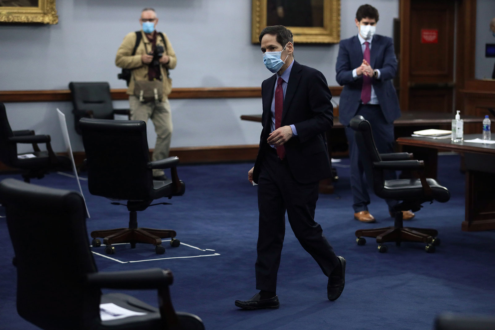 Former CDC DirectorDr. Tom Frieden leaves after testifying at a House subcommittee hearing on Covid-19 in Washington, DC, in May.