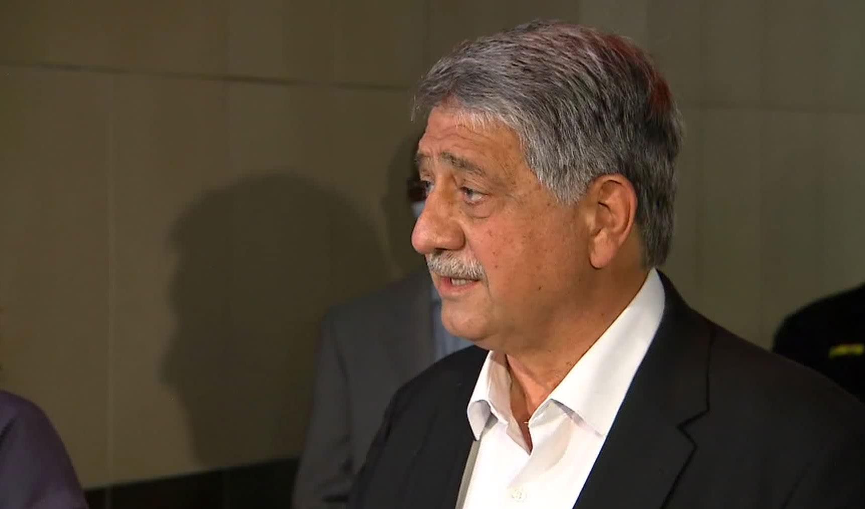 Kenosha Mayor John Antaramian speaks at a press conference on August 31.