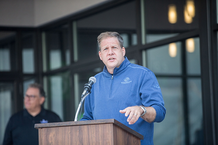 New Hampshire Governor Christopher Sununu on September 2, 2020 in Manchester, New Hampshire.