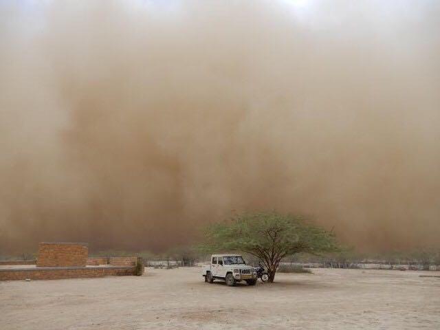 Dust storm in Gujarat, India
