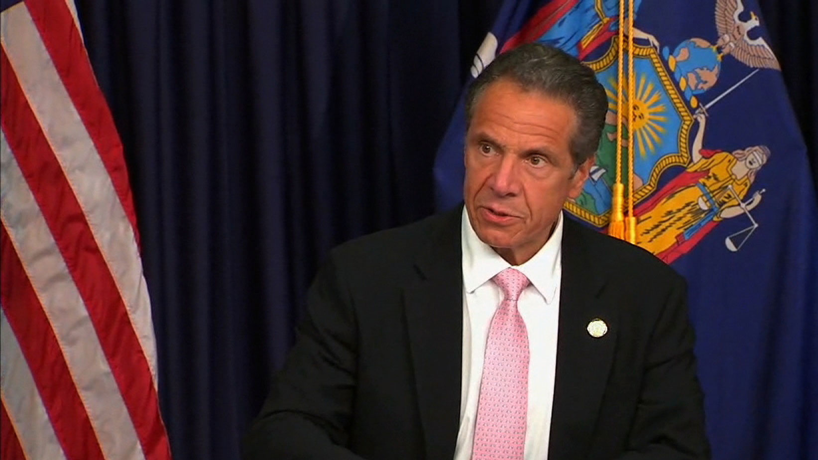 Gov. Andrew Cuomo speaks at a news conference on June 12 in New York.