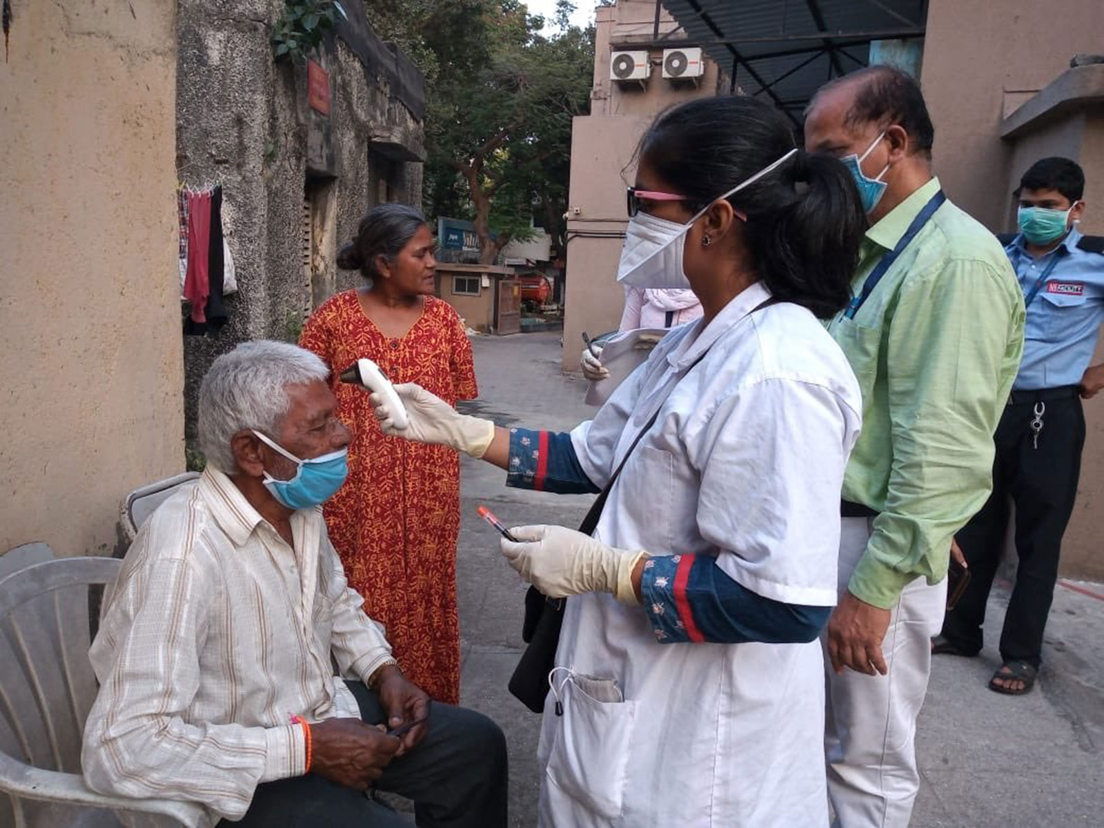 Testing in Dharavi.
