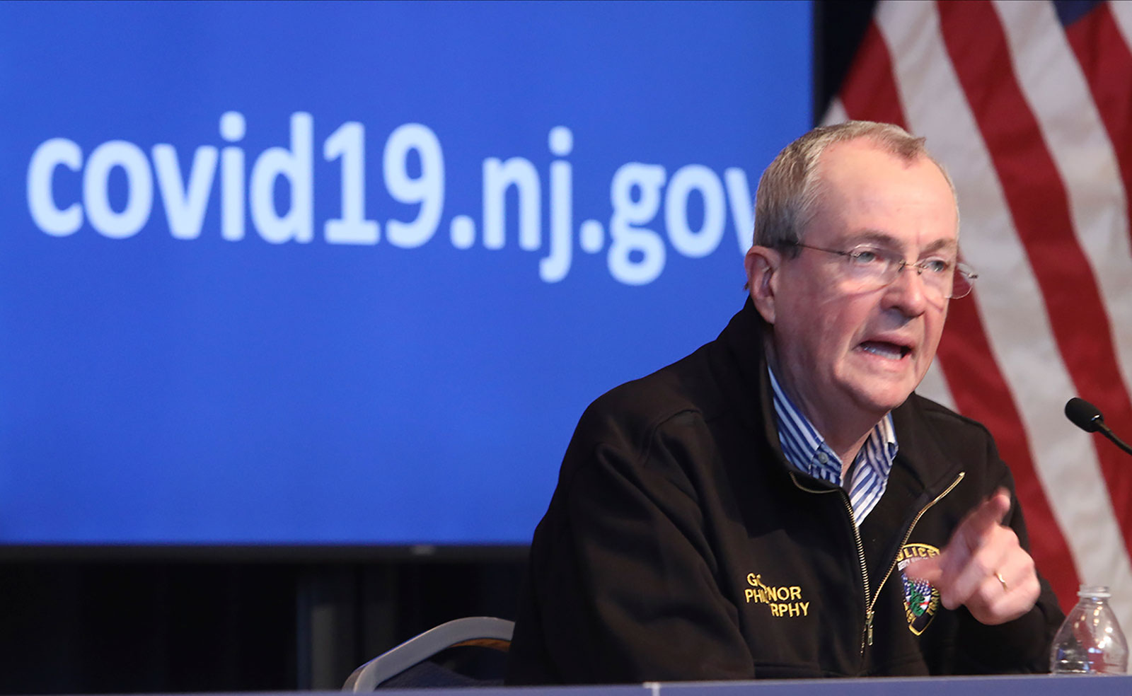 Gov. Phil Murphy holds a news conference in Trenton, New Jersey, on April 11.