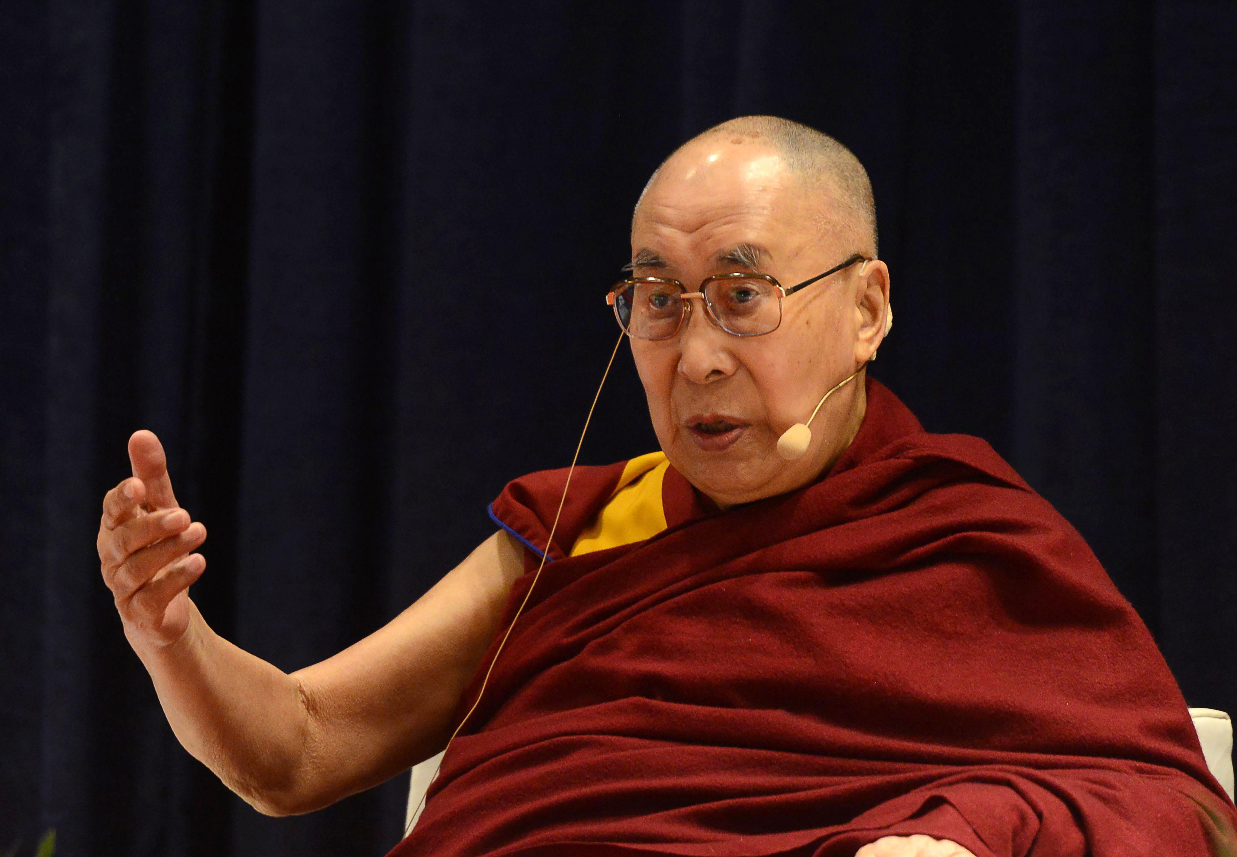 The Dalai Lama speaks in Mumbai, India, in December 2018.