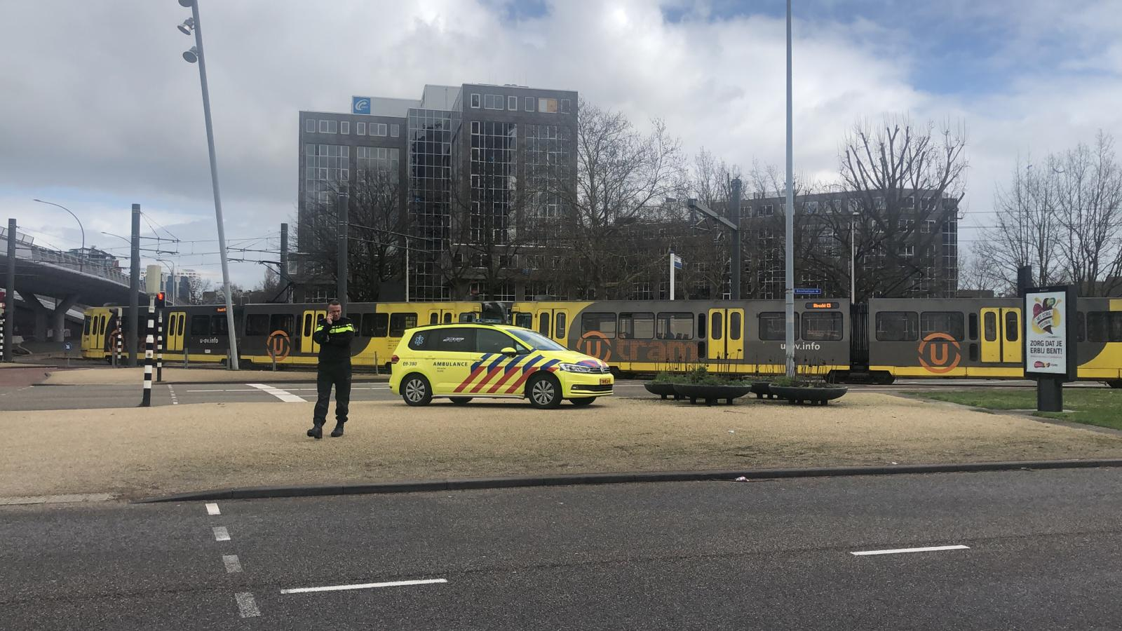 The scene in Utrecht was quickly locked down by police and emergency responders.
