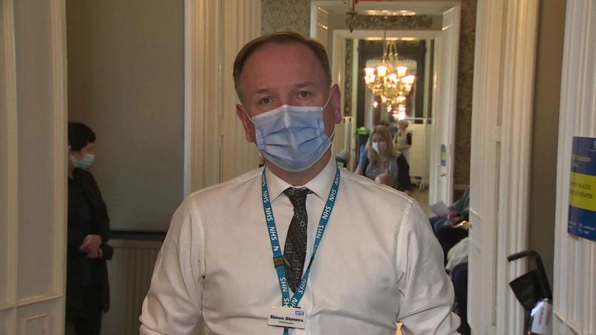 National Health Service England chief Simon Stevens.