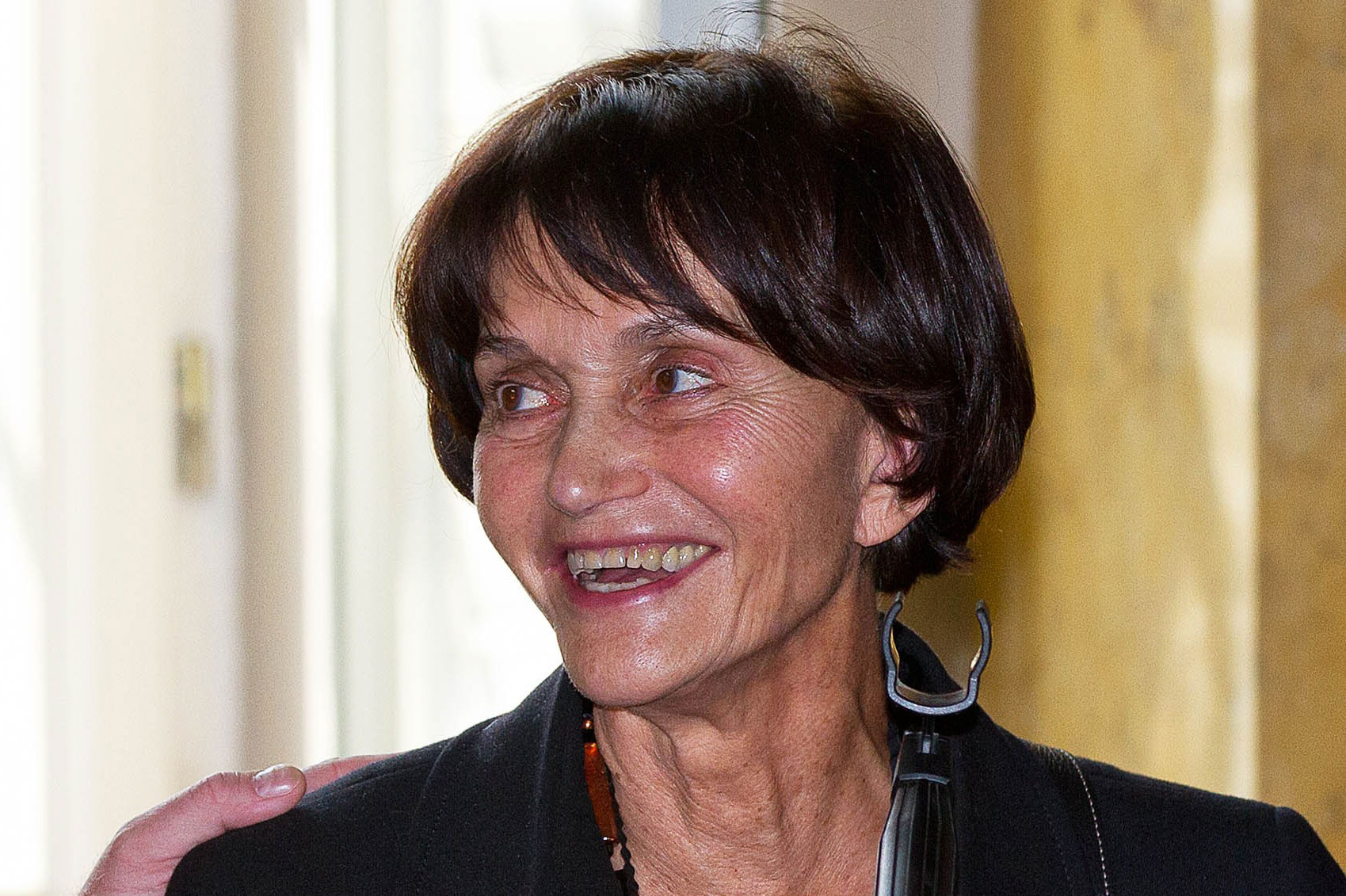 """Princess María Teresa of Bourbon-Parma attends a presentation of her book """"Les bourbon Parme, une famille engagée dans l'histoire"""" in Parma, Italy, on September 27, 2014."""