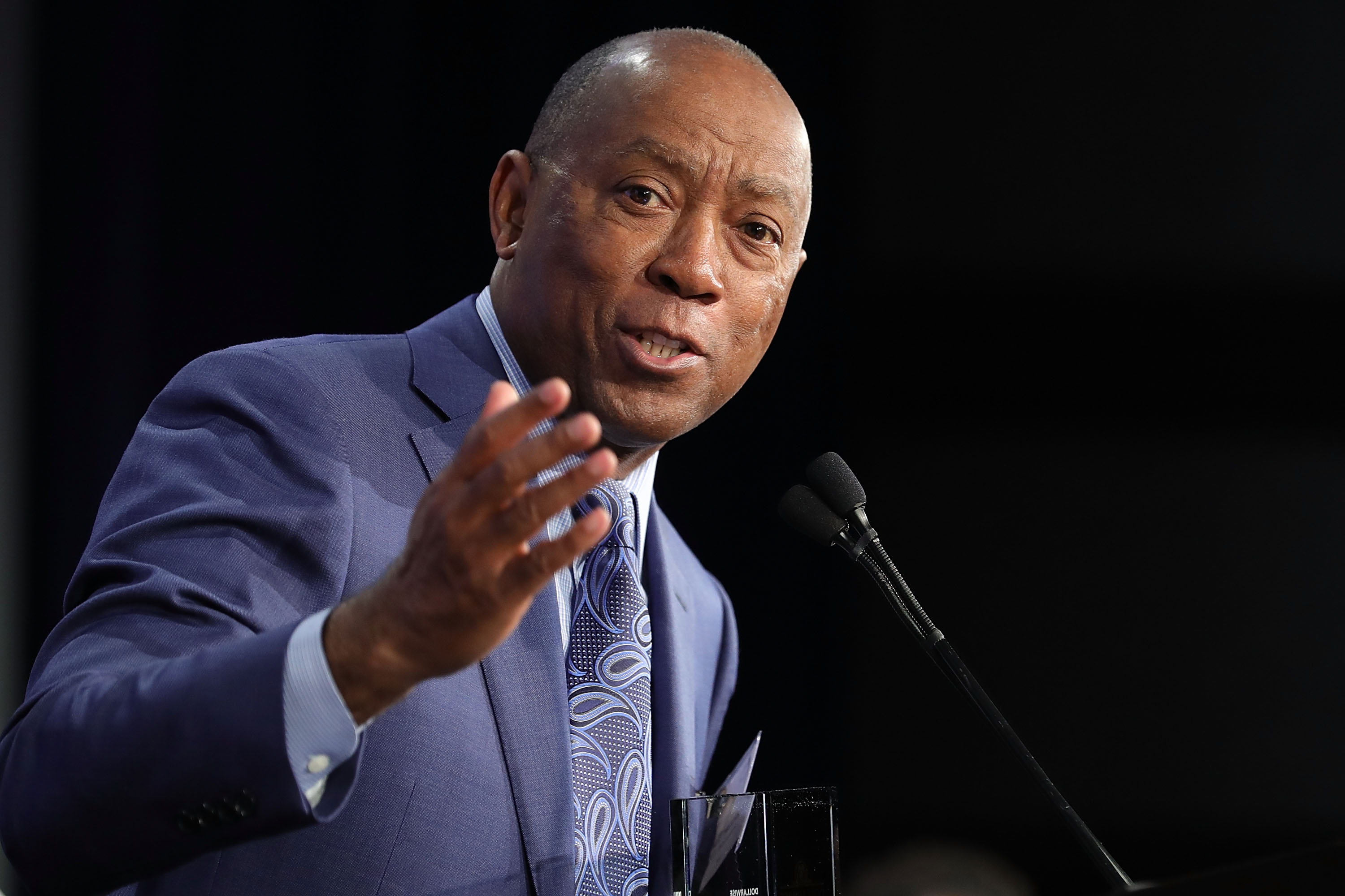 Houston Mayor Sylvester Turner speaks at the U.S. Conference of Mayors in this file photo from 2018.