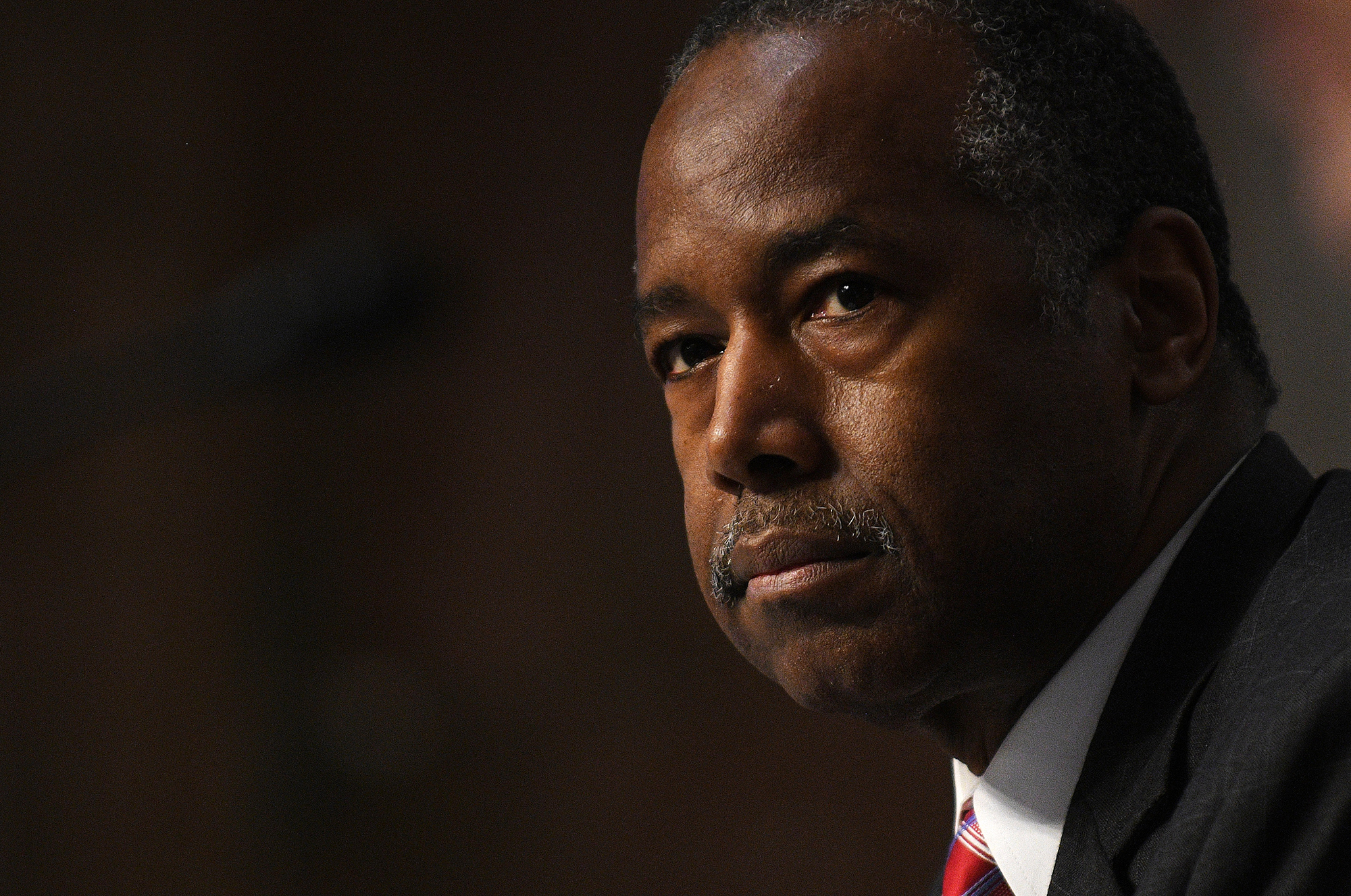 Ben Carson during a testimony before the U.S. Senate Committee on Banking, Housing, and Urban Affairs to examine housing regulations during the pandemic on Capitol Hill in Washington, DC., on June 9, 2020.