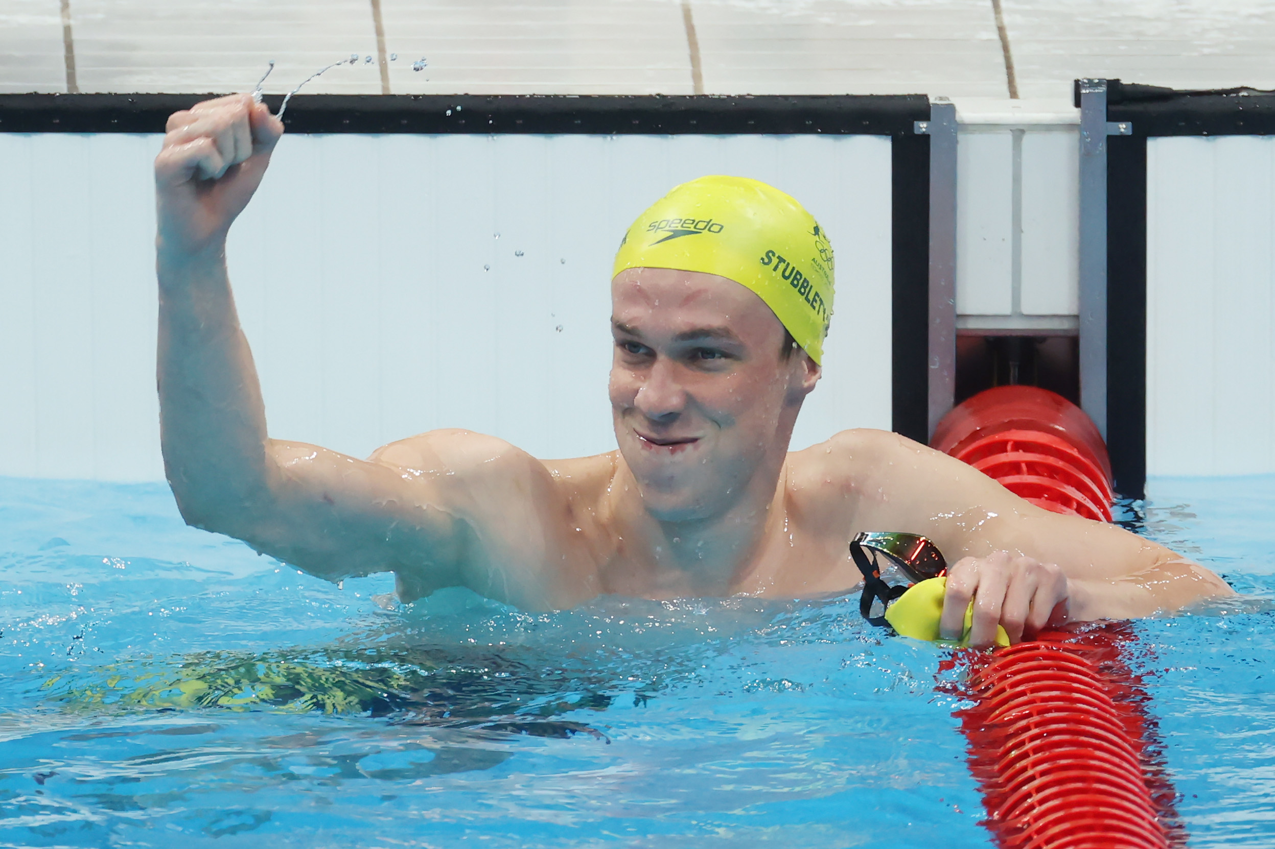 Australia's Izaac Stubblety-Cook reacts after winning gold in the 200-meter breaststroke on July 29.