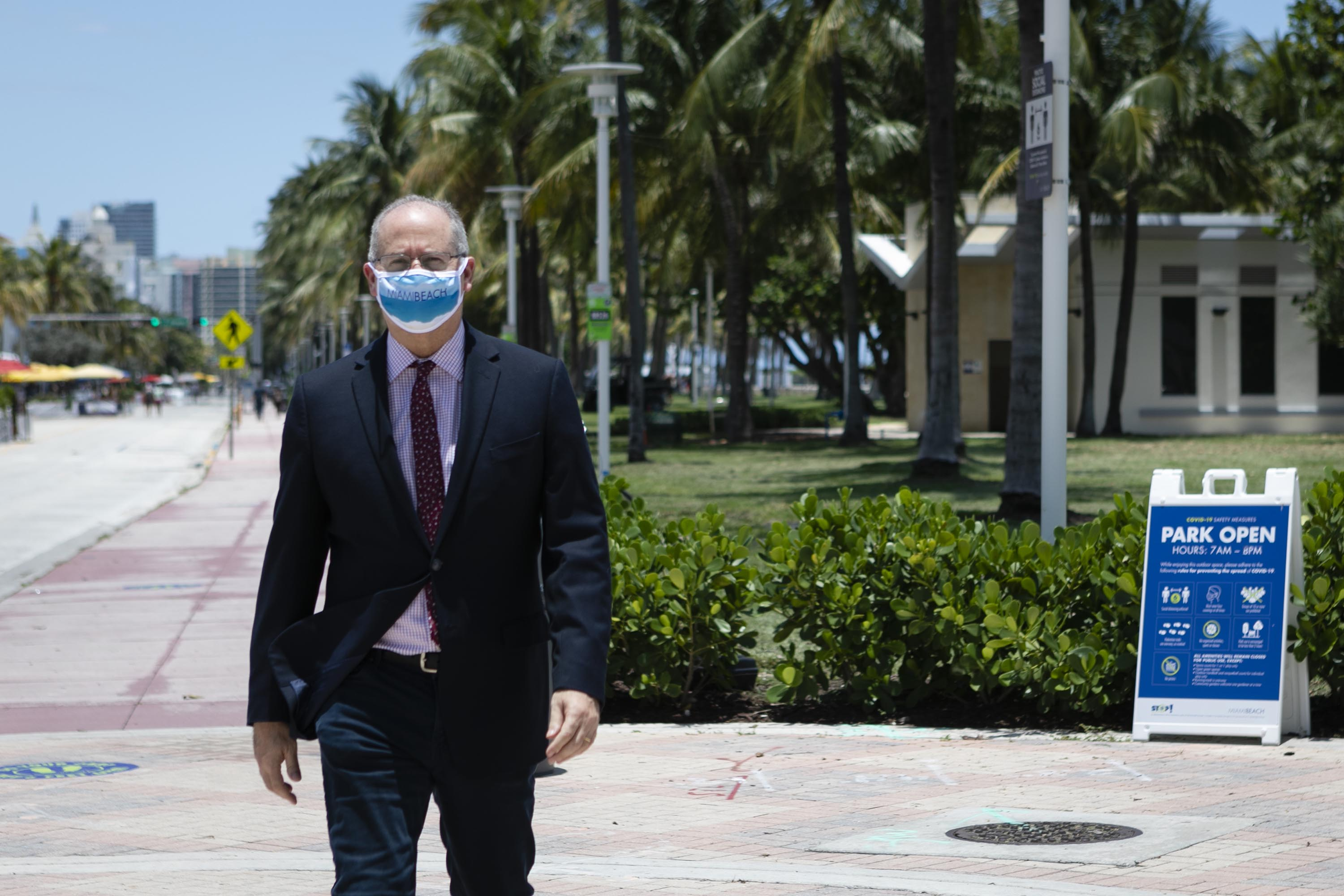 Miami Beach Mayor Dan Gelber is pictured in Miami Beach, Florida, on June 16.