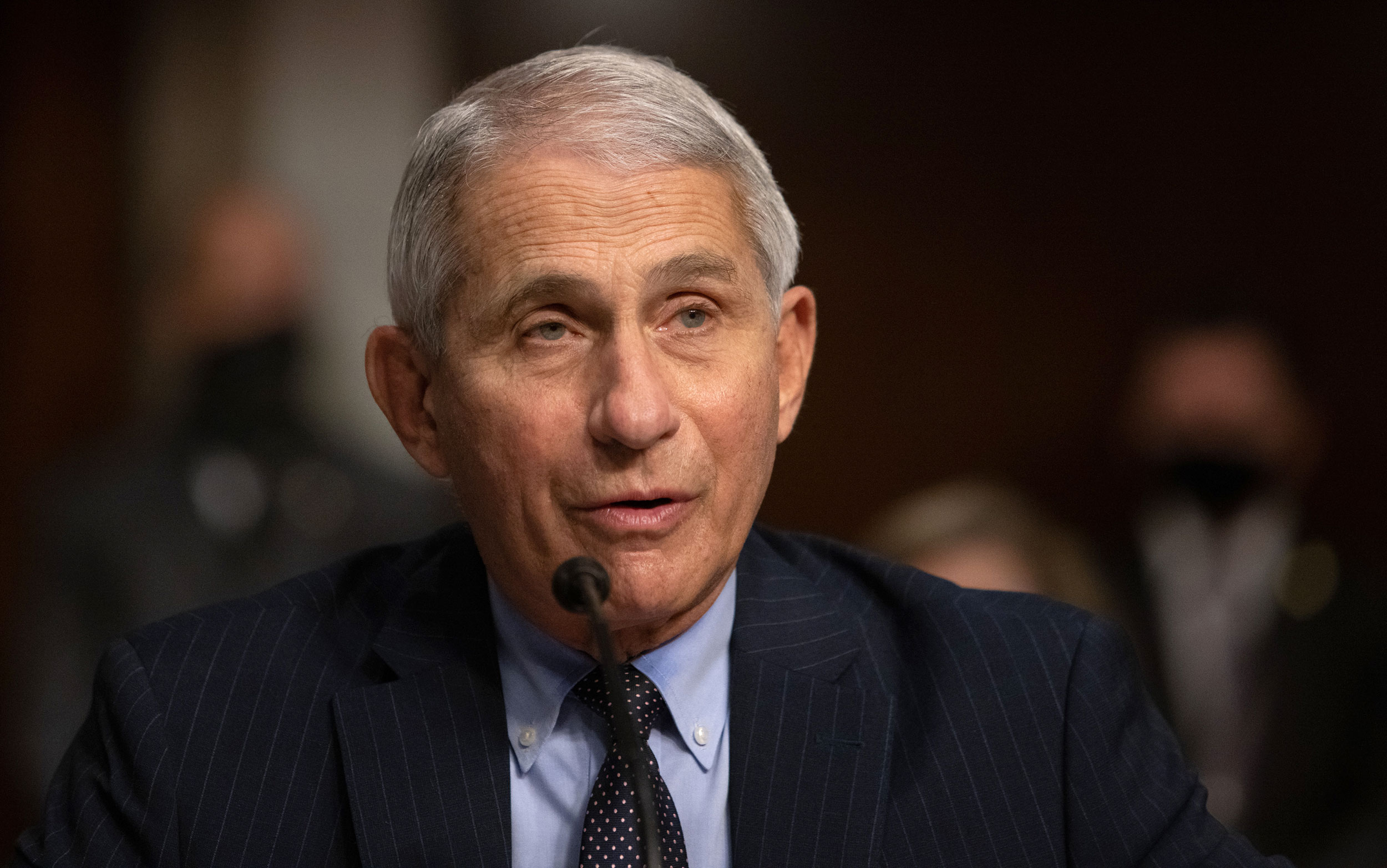 Dr. Anthony Fauci testifies at a Senate Health, Education, and Labor and Pensions Committee on Capitol Hill, on September 23 in Washington, DC.