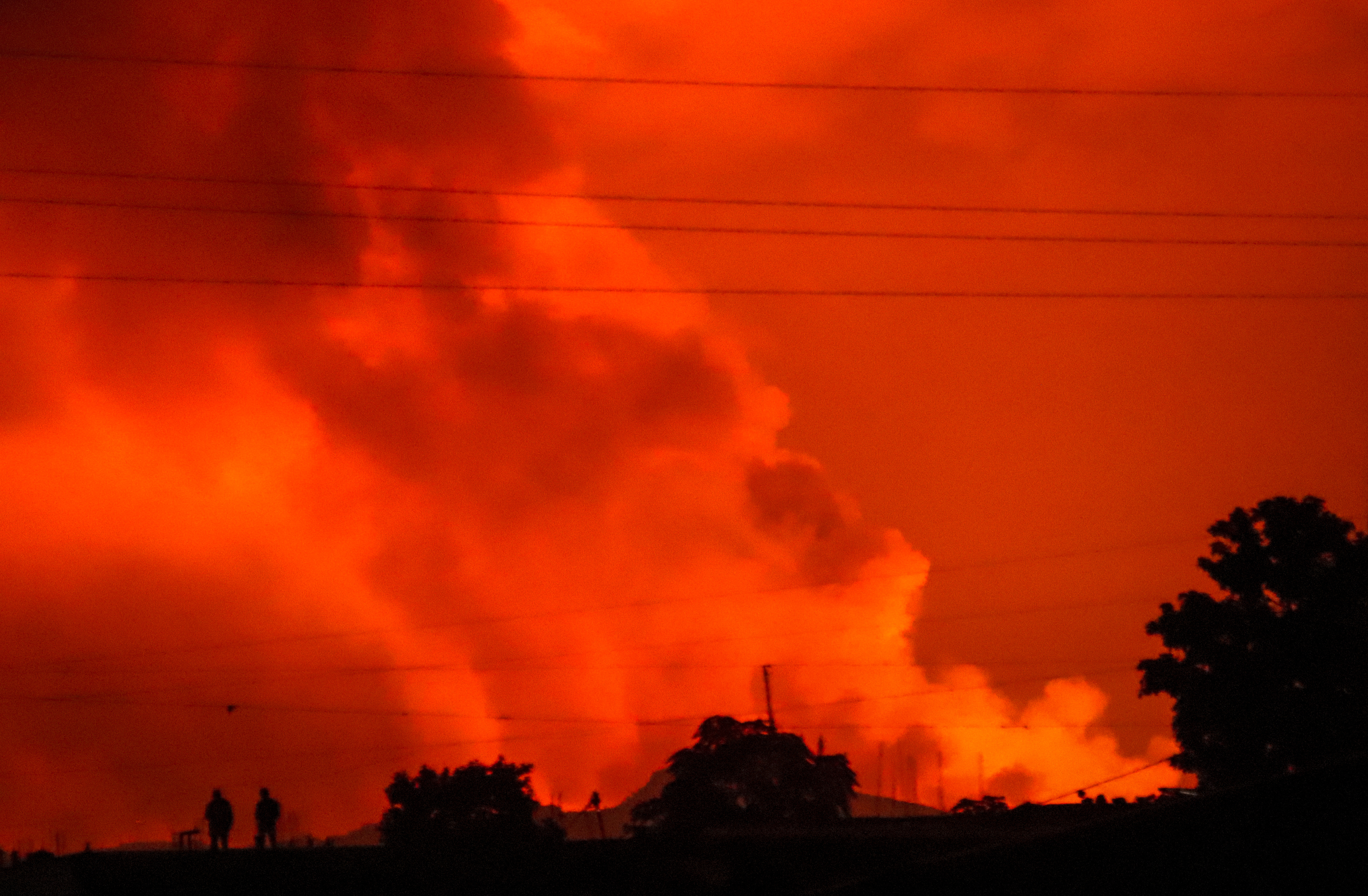 Mount Nyiragongo erupts in Goma, Congo, on Saturday, May 22.
