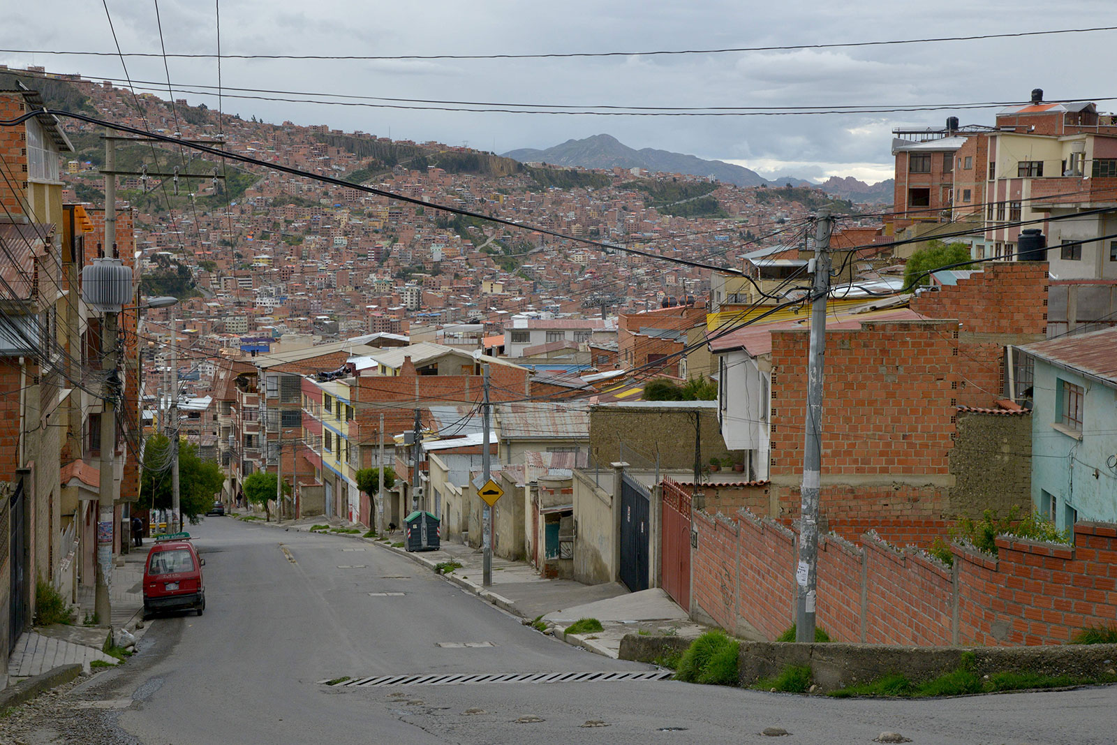 A view of an empty street in La Paz, Bolivia, on March 18.