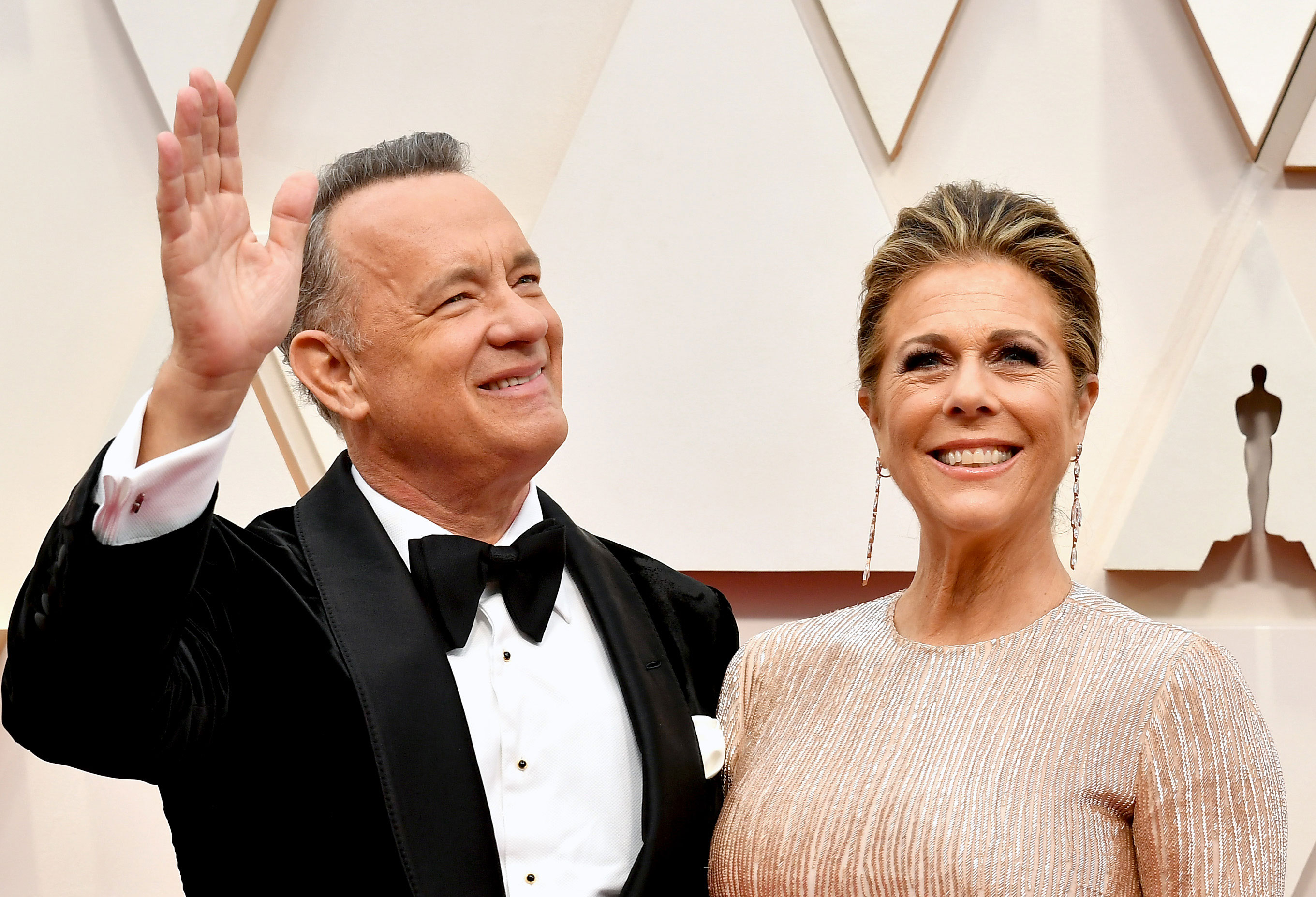 Tom Hanks and Rita Wilson attend the 92nd Annual Academy Awards on February 9, in Hollywood, California.