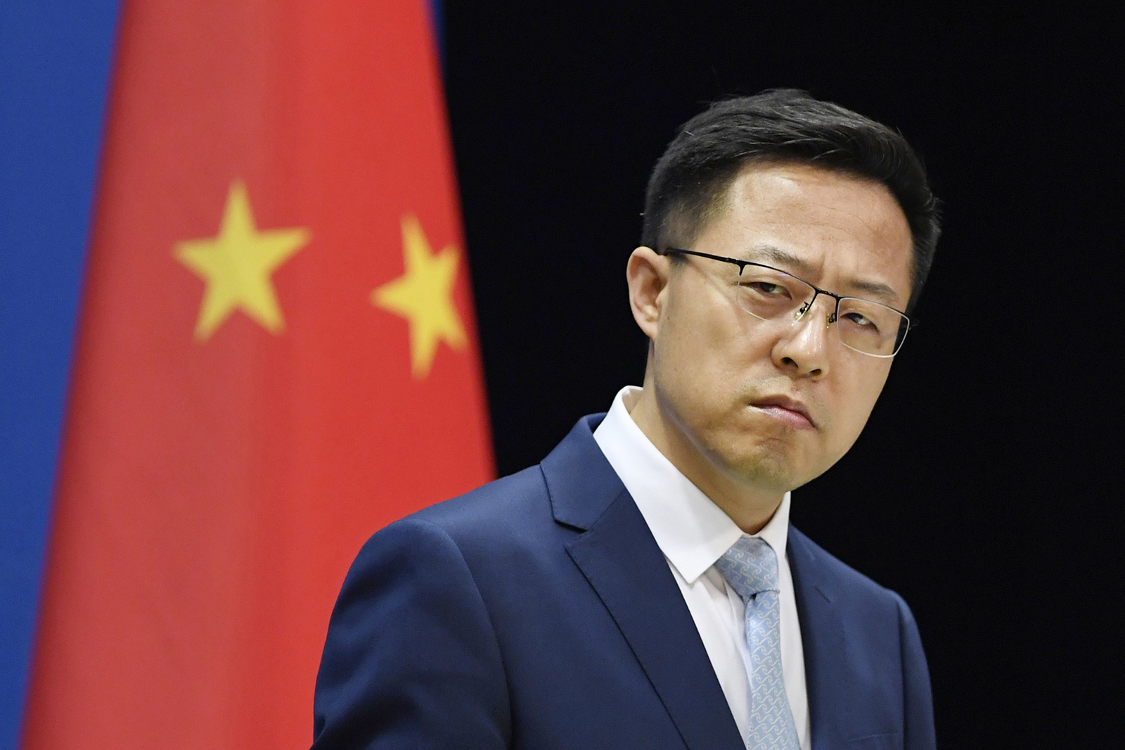 Chinese Foreign Ministry spokesman Zhao Lijian attends a press conference in Beijing on May 19.