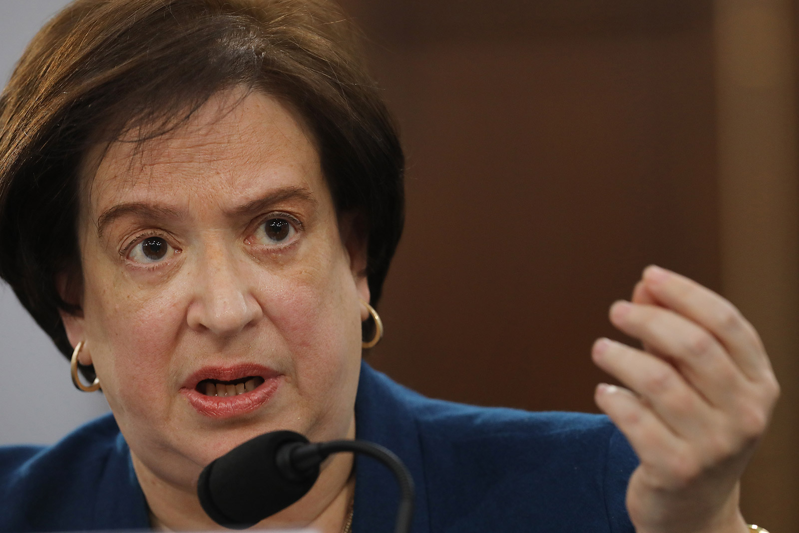 Justice Elana Kagan testifies during a House Appropriations subcommittee hearing in 2019.