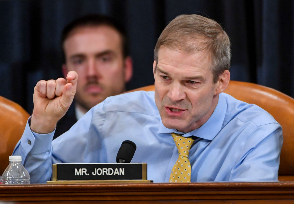 Rep. Jim Jordan makes remarks during a House Judiciary Committee markup of Articles of Impeachment against President Donald Trump on December 12.