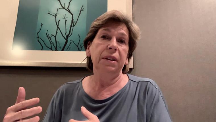 Randi Weingarten during her interview with John Berman.
