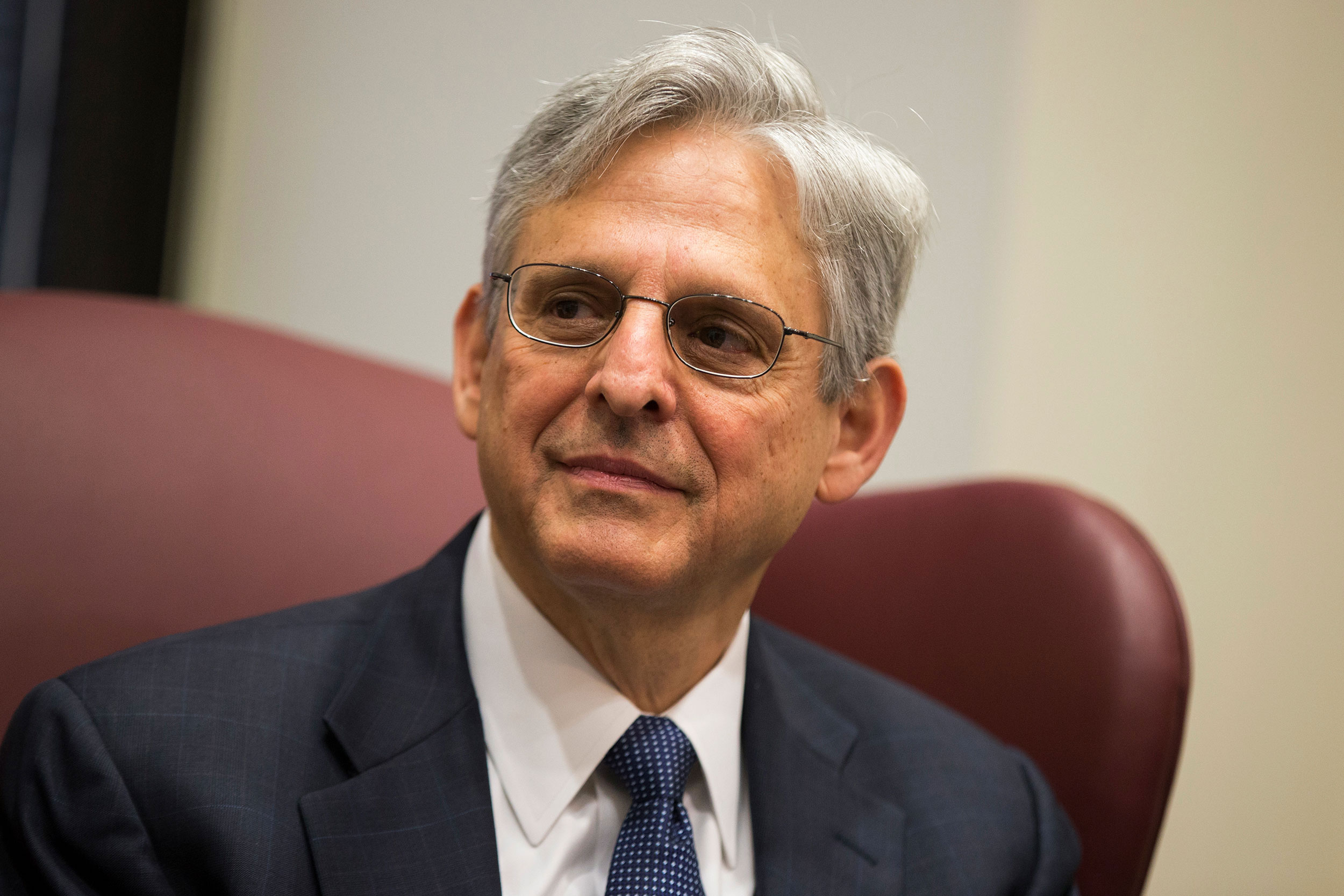 Judge Merrick Garland is pictured during a meeting in Washington, DC, on April 28, 2016.