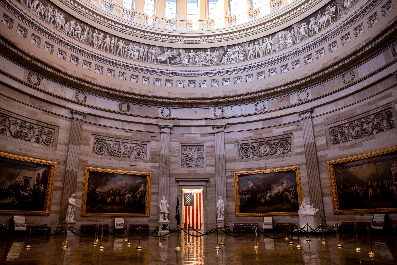 The US Capitol rotunda is seen on February 8 in Washington, DC.